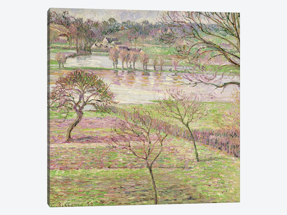 The Flood at Eragny, 1893 by Camille Pissarro 1-piece Art Print