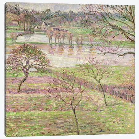 The Flood at Eragny, 1893 Canvas Print #BMN4517} by Camille Pissarro Art Print