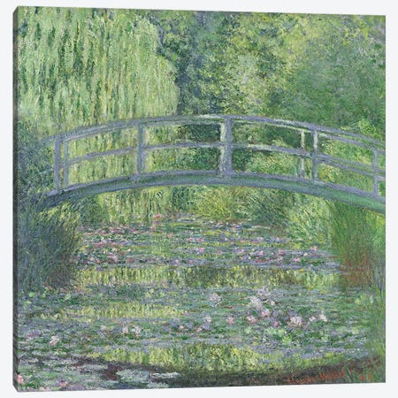 The Waterlily Pond: Green Harmony, 1899  Canvas Print #BMN451} by Claude Monet Canvas Print