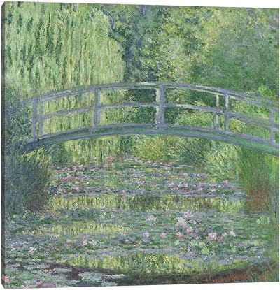 The Waterlily Pond: Green Harmony, 1899 Canvas Art Print