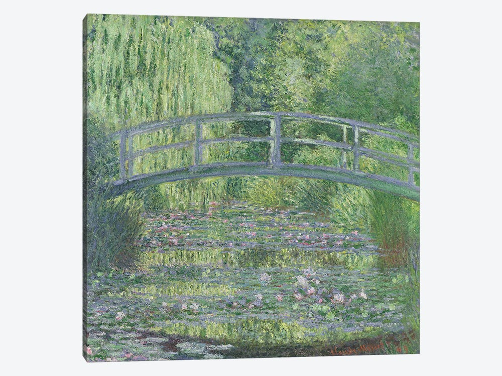 The Waterlily Pond: Green Harmony, 1899  by Claude Monet 1-piece Canvas Artwork