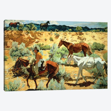 The Southwest  Canvas Print #BMN4527} by Walter Ufer Canvas Artwork