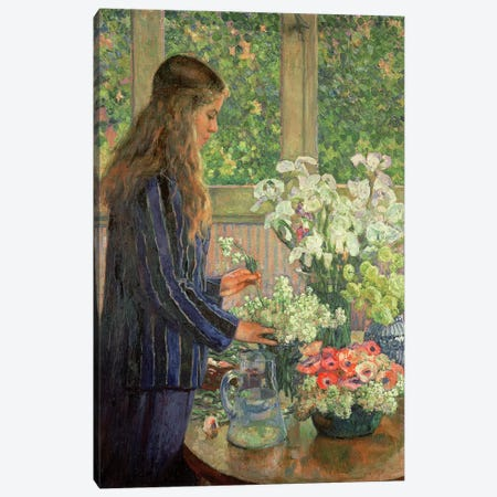 Garden Flowers  Canvas Print #BMN4529} by Theo van Rysselberghe Canvas Art Print