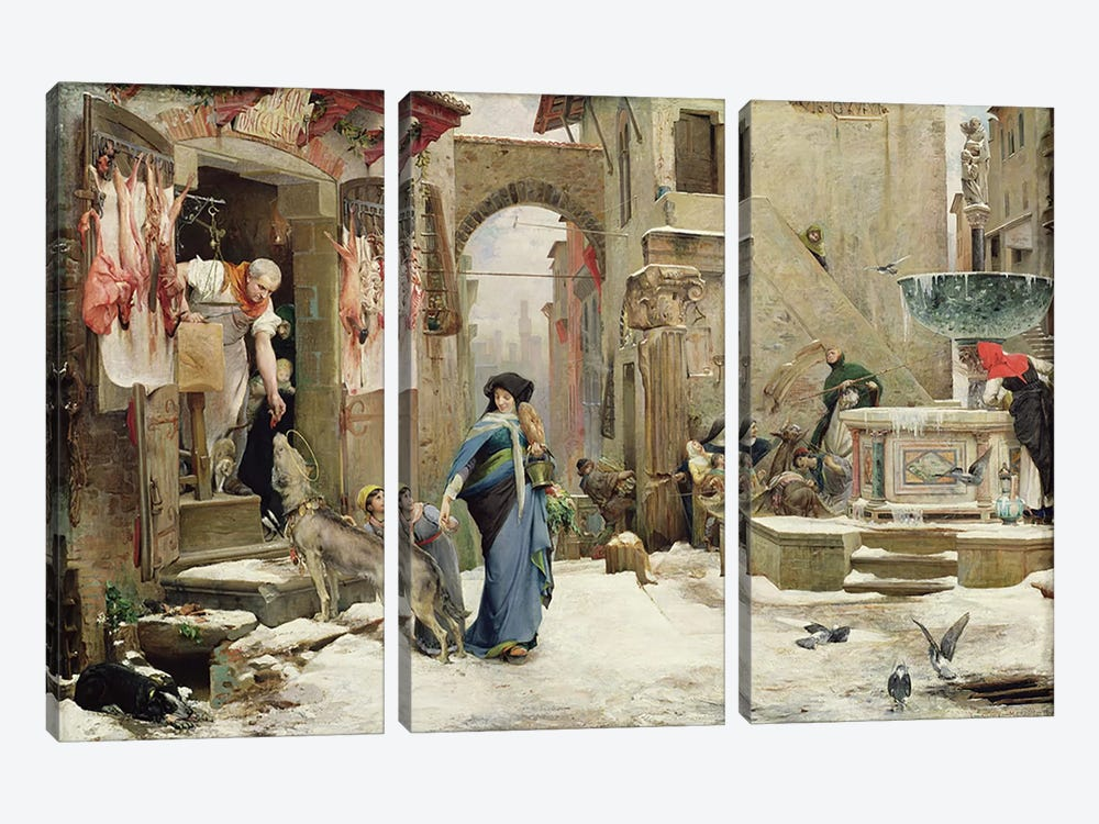 The Wolf of Gubbio, 1877  by Luc-Oliver Merson 3-piece Art Print