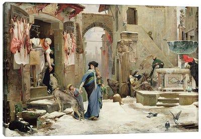 The Wolf of Gubbio, 1877  Canvas Art Print