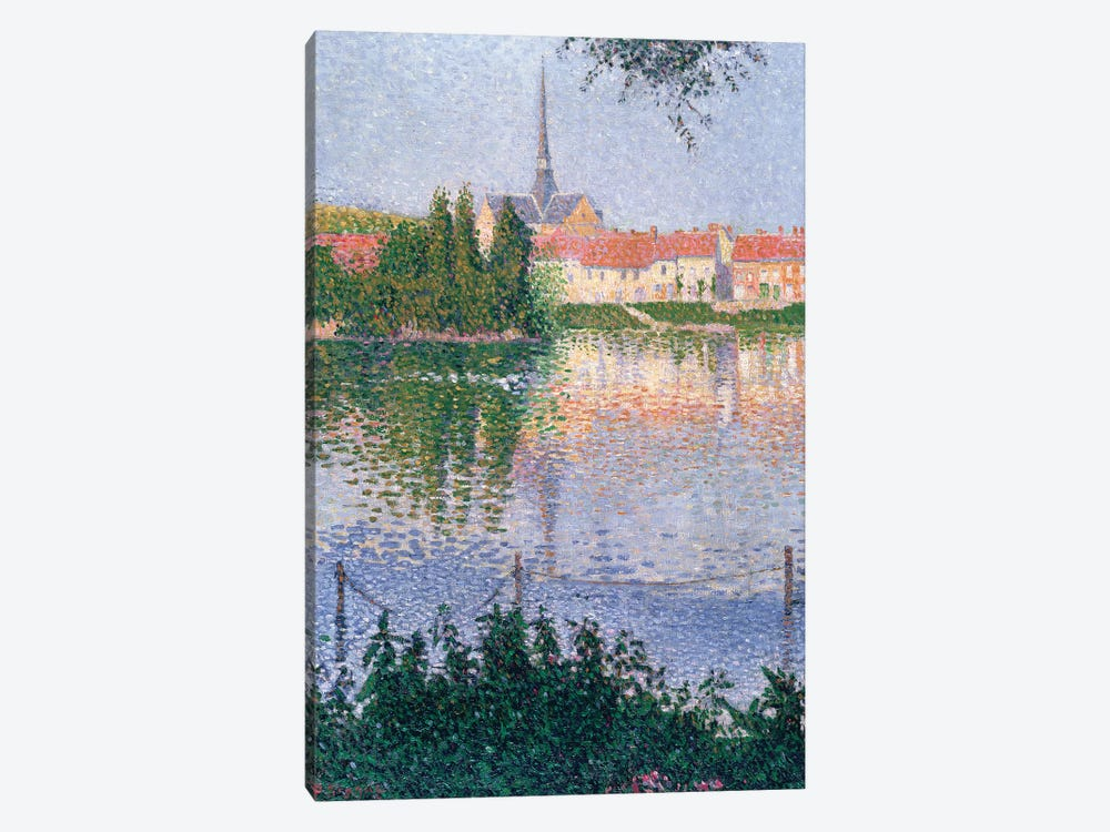 The Island at Lucas near Les Andelys  by Paul Signac 1-piece Canvas Art Print