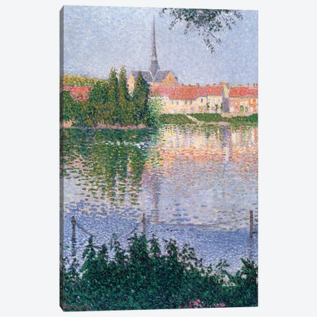 The Island at Lucas near Les Andelys  Canvas Print #BMN4531} by Paul Signac Canvas Wall Art