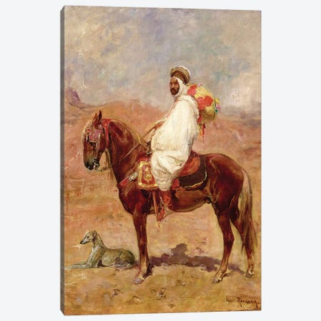 An Arab On A Horse In A Desert Landscape Canvas Print #BMN4532} by Henri Émilien Rousseau Canvas Artwork