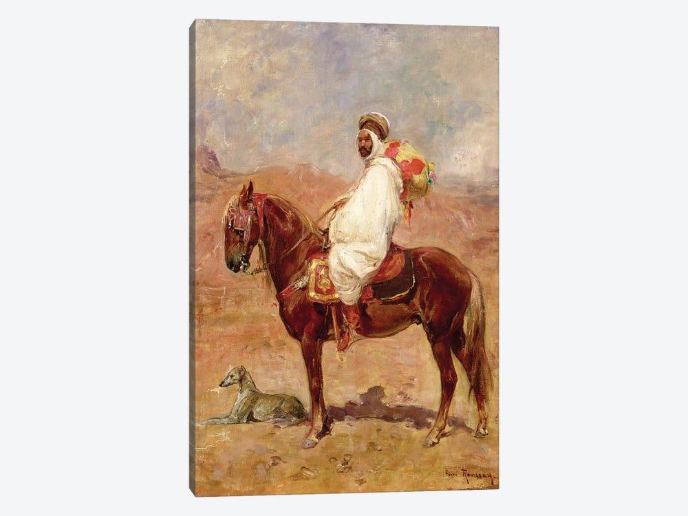 An Arab On A Horse In A Desert Landscape by Henri Émilien Rousseau 1-piece Canvas Art
