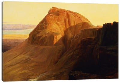Masada or Sebbeh on the Dead Sea, 1858  Canvas Art Print