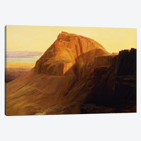 Masada or Sebbeh on the Dead Sea, 1858  Canvas Print #BMN4539} by Edward Lear Canvas Art