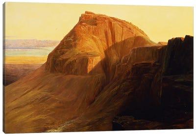 Masada or Sebbeh on the Dead Sea, 1858  Canvas Art Print