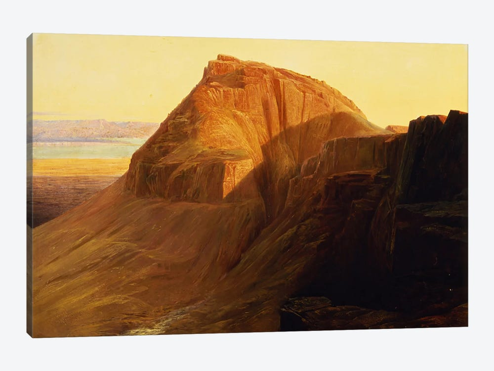 Masada or Sebbeh on the Dead Sea, 1858  by Edward Lear 1-piece Canvas Art Print