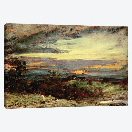 Sunset study of Hampstead, looking towards Harrow Canvas Print #BMN4543} by John Constable Art Print