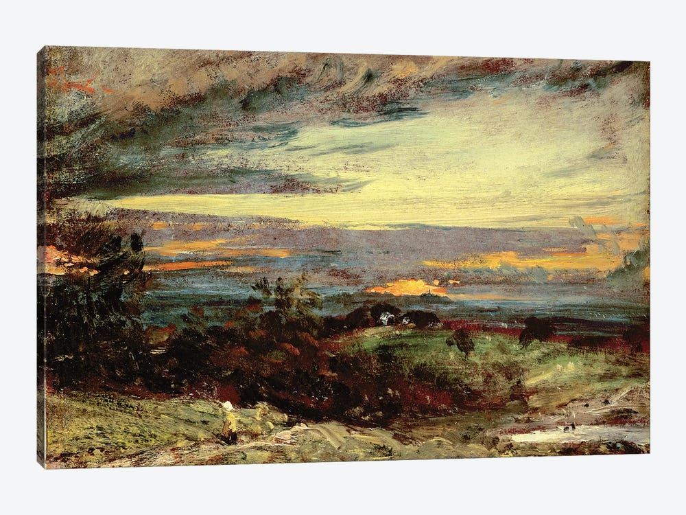 Sunset study of Hampstead, looking towards Harrow by John Constable 1-piece Canvas Artwork
