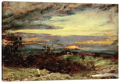 Sunset study of Hampstead, looking towards Harrow Canvas Art Print