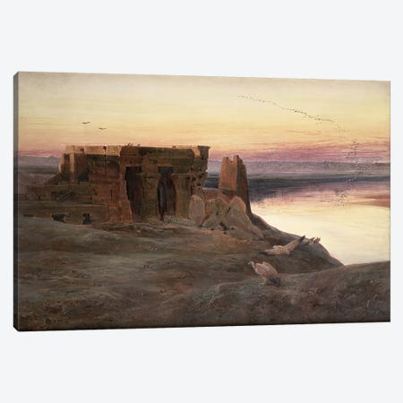 Kom Ombo Temple, Egypt  Canvas Print #BMN4544} by Edward Lear Canvas Artwork