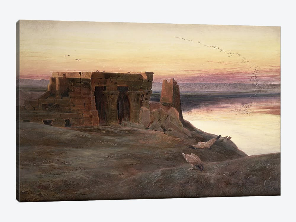 Kom Ombo Temple, Egypt  by Edward Lear 1-piece Canvas Print