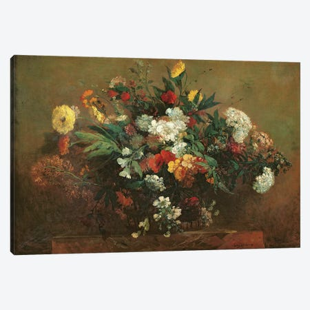 Flowers  Canvas Print #BMN454} by Ferdinand Victor Eugene Delacroix Canvas Artwork