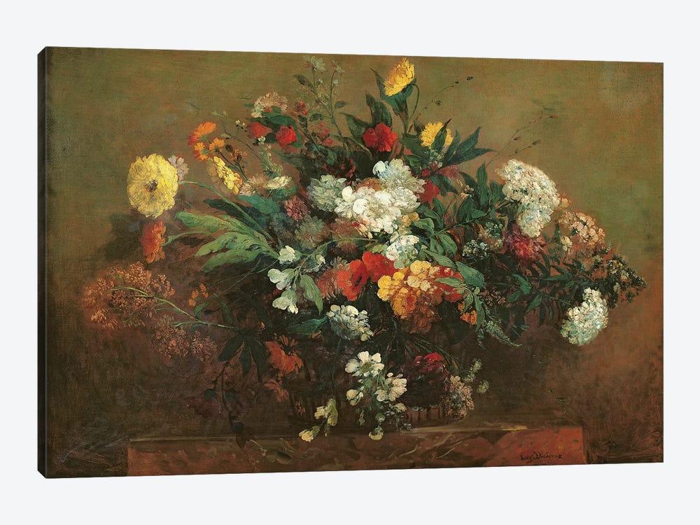 Flowers  by Ferdinand Victor Eugene Delacroix 1-piece Canvas Art Print