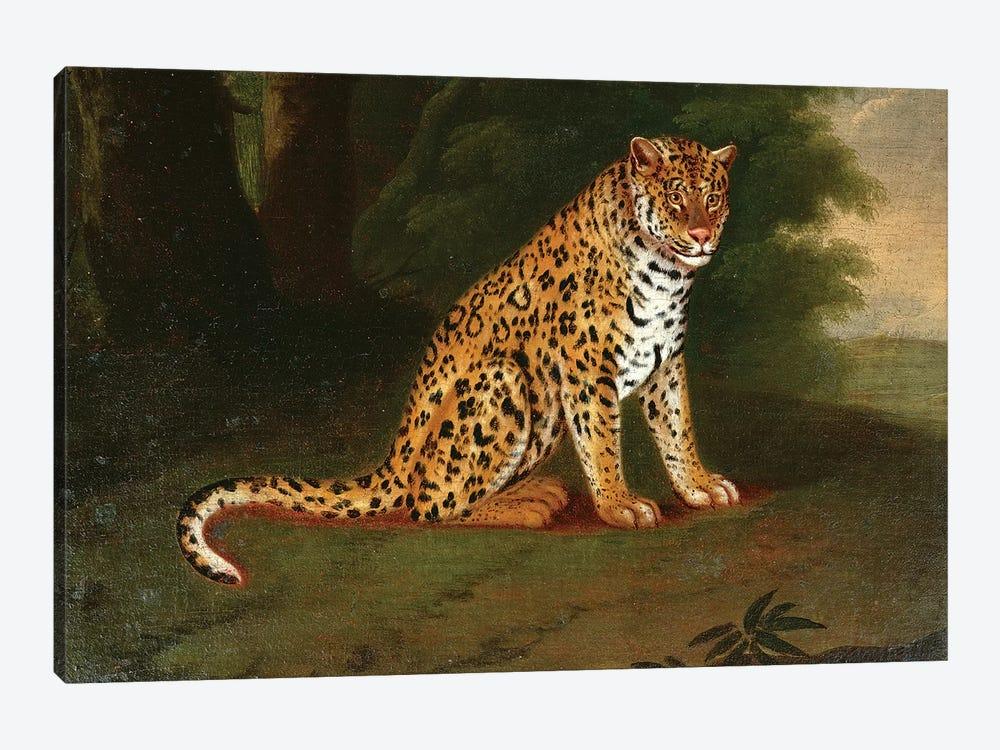 A Leopard in a landscape by Jacques-Laurent Agasse 1-piece Canvas Artwork