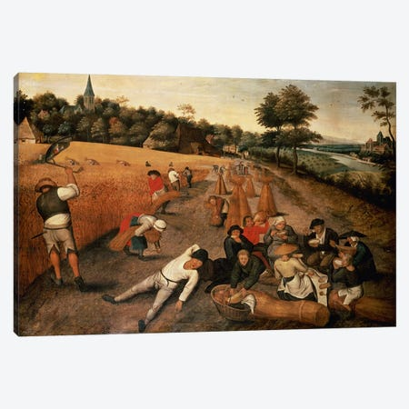Harvesters' Lunch Canvas Print #BMN4552} by Pieter Brueghel the Younger Canvas Art