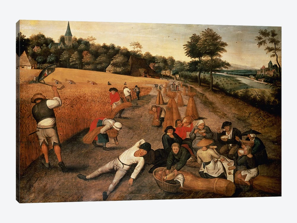 Harvesters' Lunch by Pieter Brueghel the Younger 1-piece Canvas Wall Art