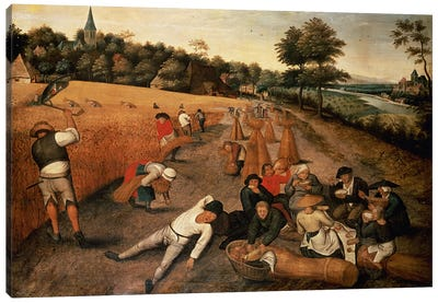 Harvesters' Lunch Canvas Art Print