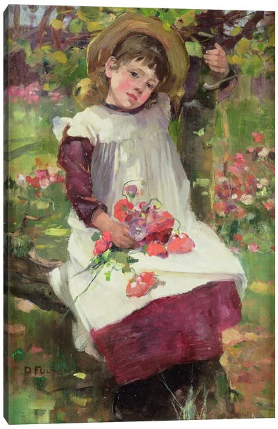 The Poppy Gatherer Canvas Art Print