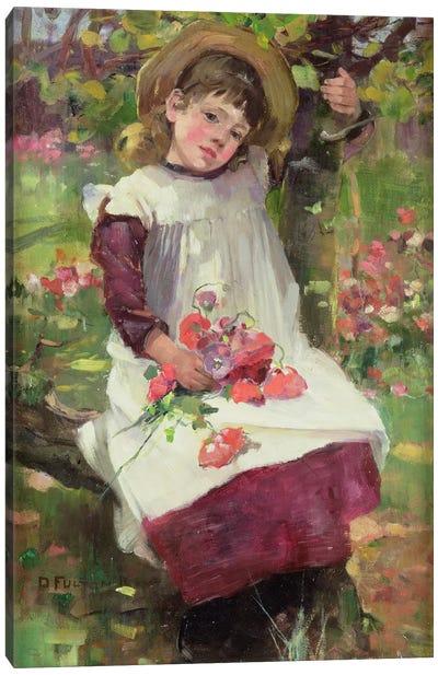 The Poppy Gatherer Canvas Art Print