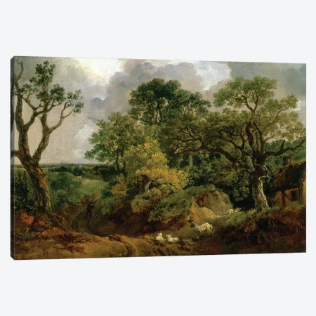 Wooded Landscape Canvas Print #BMN4557} by Thomas Gainsborough Canvas Print