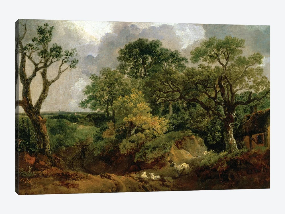 Wooded Landscape by Thomas Gainsborough 1-piece Canvas Print