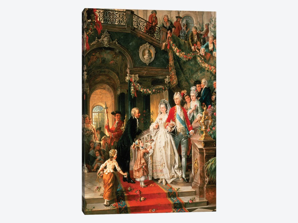 The Wedding Party by Carl Herpfer 1-piece Art Print