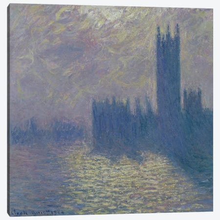 The Houses of Parliament, Stormy Sky, 1904  Canvas Print #BMN455} by Claude Monet Canvas Art