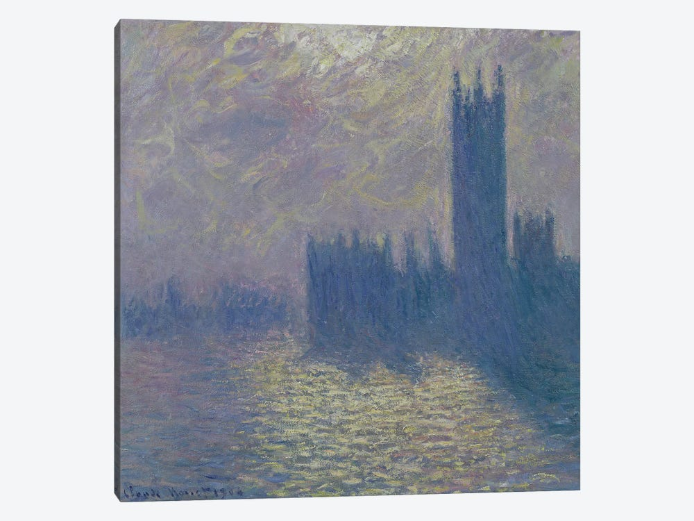 The Houses of Parliament, Stormy Sky, 1904  by Claude Monet 1-piece Canvas Art