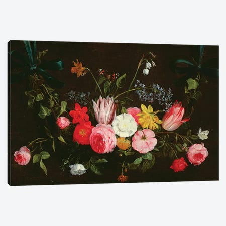 Tulips, Peonies and Butterflies Canvas Print #BMN4560} by Jan van Kessel Art Print
