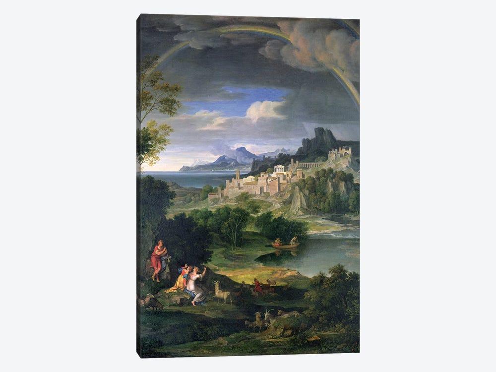 Landscape with Rainbow by Joseph Anton Koch 1-piece Canvas Artwork