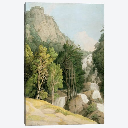 Lodore Falls Canvas Print #BMN4566} by Francis Towne Canvas Artwork