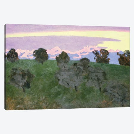 Near Lausanne, Evening Canvas Print #BMN4567} by Felix Edouard Vallotton Canvas Art