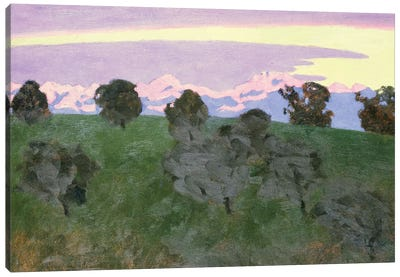 Near Lausanne, Evening Canvas Art Print