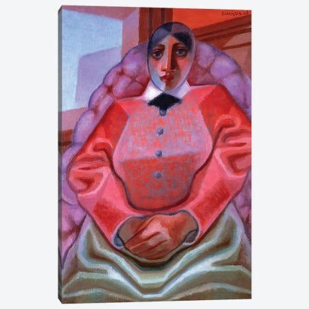 Lady in a Chair, 1925 Canvas Print #BMN4569} by Juan Gris Art Print