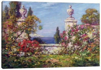 A Mediterranean Garden  Canvas Art Print