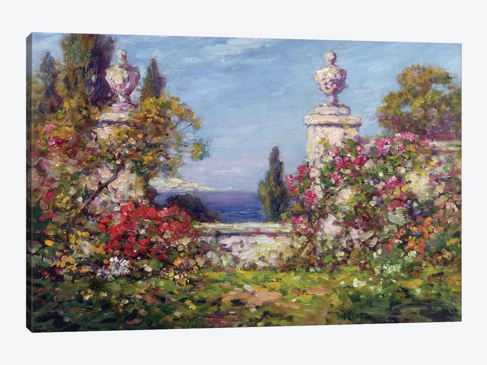 A Mediterranean Garden  by Thomas Edwin Mostyn 1-piece Canvas Wall Art