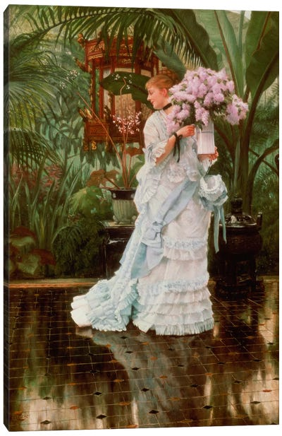The Bunch of Lilacs, c.1875 Canvas Art Print