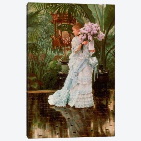 The Bunch of Lilacs, c.1875 Canvas Print #BMN4578} by James Jacques Joseph Tissot Canvas Artwork