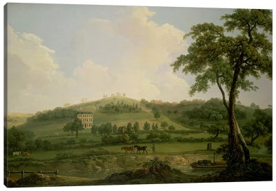 View of Oakage Hall, Colwich Canvas Art Print