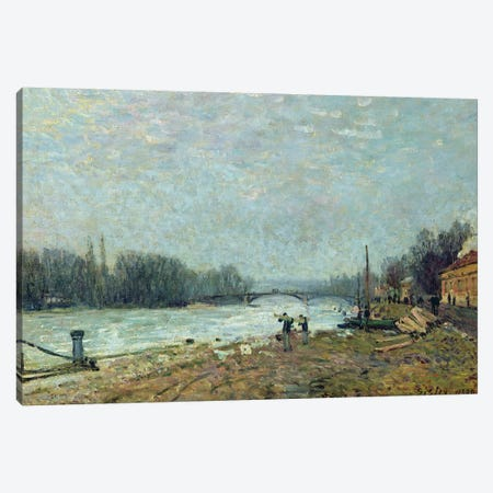 After the Thaw, the Seine at Suresnes Bridge, 1880  3-Piece Canvas #BMN457} by Alfred Sisley Canvas Art