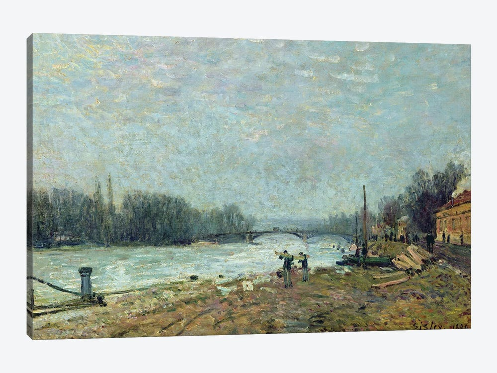 After the Thaw, the Seine at Suresnes Bridge, 1880  by Alfred Sisley 1-piece Canvas Art