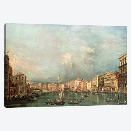 The Grand Canal, Venice Canvas Print #BMN4580} by Francesco Guardi Canvas Print