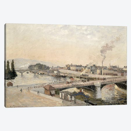 Boieldieu and Corneille bridges, 1898 Canvas Print #BMN4581} by Camille Pissarro Canvas Print